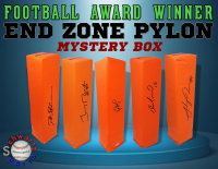 Schwartz Sports Football Award Winner Signed Endzone Pylon Mystery Box - Series 3 (Limited to 75) at PristineAuction.com