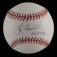 "Yogi Berra Signed OML Baseball Inscribed ""HOF 72"" (MLB Hologram & Schulte Sports Hologram) at PristineAuction.com"
