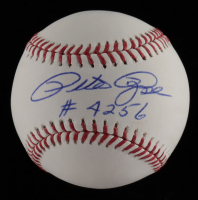 "Pete Rose Signed OML Baseball Inscribed ""#4256"" (JSA COA) at PristineAuction.com"