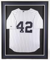 "Mariano Rivera Signed Yankees 33x41 Custom Framed Jersey Display Inscribed ""HOF 2019"" (JSA Hologram) at PristineAuction.com"