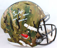 """Baker Mayfield Signed Browns Full-Size Authentic On-Field Camo Alternate Speed Helmet Inscribed """"Woke Up Feelin Dangerous"""" (Beckett Hologram) at PristineAuction.com"""