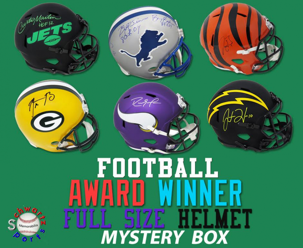Schwartz Sports Football Award Winner Signed Full-Size Helmet Mystery Box Series 4 (Limited to 100) at PristineAuction.com