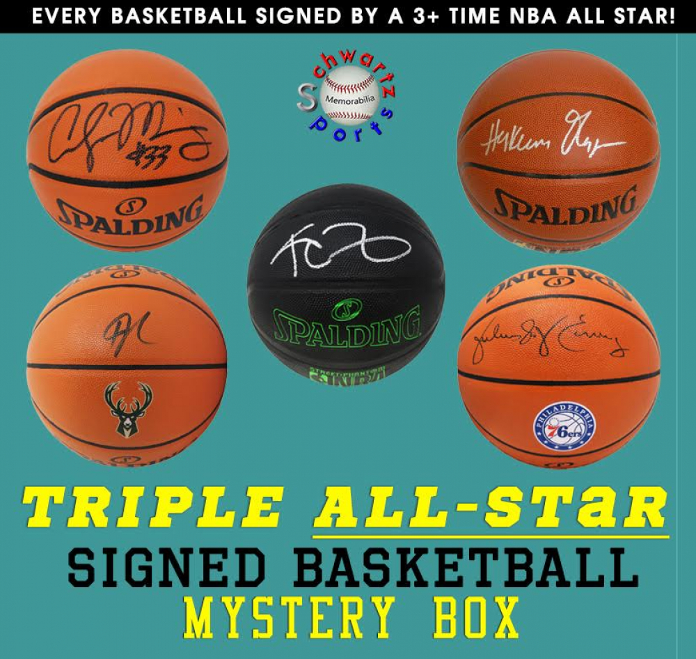 Schwartz Sports TRIPLE ALL-STAR Basketball Signed Mystery Box – Series 1 (Limited to 75) – (EVERY BASKETBALL IS SIGNED BY A 3+ TIME NBA ALL STAR!!!!) at PristineAuction.com