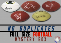 Schwartz Sports NO DUPLICATES Signed Full-Size Football Mystery Box - Series 2 (Limited to 100) (100 Different Players Included In Series!!!) at PristineAuction.com
