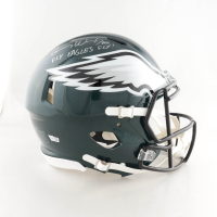 """Carson Wentz Signed Eagles Full-Size Authentic On-Field Speed Helmet Inscribed """"AO1"""" & """"Fly Eagles Fly!"""" (Fanatics Hologram) at PristineAuction.com"""