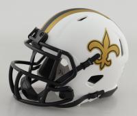 "Drew Brees Signed Saints Lunar Eclipse Alternate Speed Mini Helmet Inscribed ""SBXLIV MVP"" (Beckett COA) at PristineAuction.com"