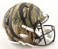 Joe Burrow Signed Bengals Full-Size Camo Alternate Speed Helmet (Fanatics Hologram) at PristineAuction.com
