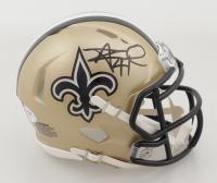 Alvin Kamara Signed Saints Speed Mini Helmet (PSA COA) at PristineAuction.com