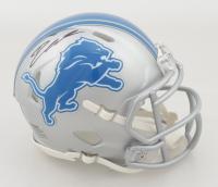 D'Andre Swift Signed Lions Speed Mini Helmet (Fanatics Hologram) at PristineAuction.com