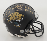 "Josh Scobee Signed Jaguars Mini Helmet Inscribed ""Colt Killer 10-3-10"" & ""1022 Points"" (PSA COA) at PristineAuction.com"