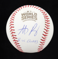 """Anthony Rizzo Signed 2016 World Series Baseball Inscribed """"16 WS Champs"""" (Fanatics Hologram & MLB Hologram) at PristineAuction.com"""