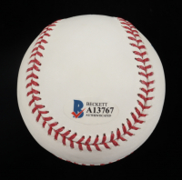 Mike Trout Signed OML Baseball (Beckett Hologram) at PristineAuction.com