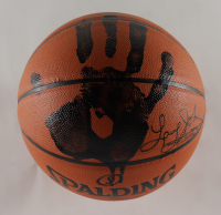 Larry Johnson Signed LE Basketball with Handprint (TriStar Hologram) at PristineAuction.com