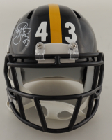 Troy Polamalu Signed Steelers Speed Mini Helmet (Beckett COA) at PristineAuction.com