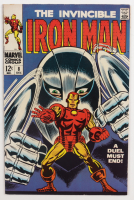 """1968 """"The Invincible Iron Man"""" Issue #8 Marvel Comic Book (See Description) at PristineAuction.com"""