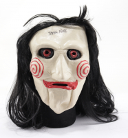 """Tobin Bell Signed """"Saw"""" Billy the Puppet Mask (PSA COA) at PristineAuction.com"""