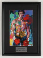 "LeRoy Neiman ""Rocky"" 14x19 Custom Framed Print Display at PristineAuction.com"