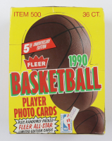 1990-91 Fleer Basketball Wax Box with (36) Packs (See Description) at PristineAuction.com