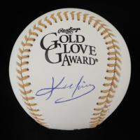 Kevin Youkilis Signed Gold Glove Award Baseball (PSA COA) at PristineAuction.com