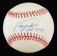 """Fergie Jenkins Signed ONL Baseball Inscribed """"HOF 7/21/91"""" (JSA COA) at PristineAuction.com"""
