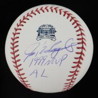 "Ivan Rodriguez Signed Rangers Final Season Logo OML Baseball Inscribed ""1999 MVP AL"" (PSA COA) at PristineAuction.com"
