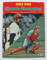 """Johnny Bench & Luis Tiant Signed 1975 """"Sports Illustrated"""" Magazine (Beckett COA) at PristineAuction.com"""