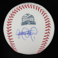 Elvis Andrus Signed Rangers Inaugural Season Logo OML Baseball (PSA COA) at PristineAuction.com