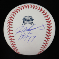 "Ivan Rodriguez Signed Rangers Final Season Logo OML Baseball Inscribed ""HOF 17"" (PSA COA) at PristineAuction.com"