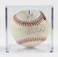 1987 All-Star Game Baseball Team-Signed by (10) with Don Mattingly, Andrew Dawson, Dave Winfield, Lee Smith, Alan Tammell with Display Case (Sportscards.com LOA) at PristineAuction.com