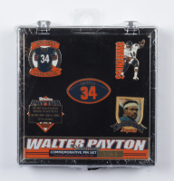 Walter Payton Bears Commemorative LE Set of (5) Pins with Case at PristineAuction.com