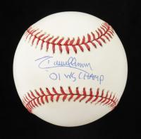 "Randy Johnson Signed 2001 World Series Baseball Inscribed ""'01 WS Champ"" (JSA COA) at PristineAuction.com"