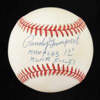 "Randy Gumpert Signed OAL Baseball ""Mantles 1st MLHR -5-1-51"" (JSA COA) at PristineAuction.com"
