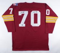 """Sam Huff Signed Redskins Jersey Inscribed """"HOF 1982"""" (TriStar Hologram) at PristineAuction.com"""