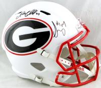 Nick Chubb & Sony Michel Signed Georgia Bulldogs Full-Size AMP Alternate Speed Helmet (Beckett Hologram) at PristineAuction.com