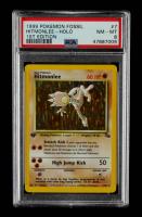 Hitmonlee 1999 Pokemon Fossil 1st Edition #7 Holo (PSA 8) at PristineAuction.com