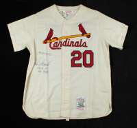 "Lou Brock Signed Cardinals Jersey Inscribed ""3023 Hits"", ""H.O.F. 85"" & ""SB 938"" (PSA COA) at PristineAuction.com"