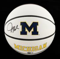Juwan Howard Signed Michigan Wolverines Logo Basketball (Beckett Hologram) at PristineAuction.com