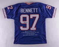 Cornelius Bennett Signed Career Highlight Stat Jersey (JSA COA) at PristineAuction.com