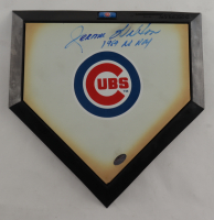 """Jerome Walton Signed Cubs Logo Mini Home Plate Inscribed """"1989 NL ROY"""" (Schwartz COA) at PristineAuction.com"""