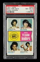 Julius Erving / John Roche / Larry Kenon / Julius Erving 1974-75 Topps #226 TL (PSA 8) (OC) at PristineAuction.com