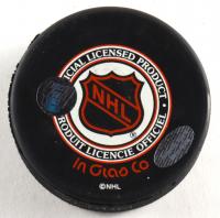 Wayne Presley Signed Blackhawks Logo Hockey Puck (Schwartz COA) at PristineAuction.com