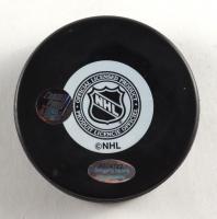Ted Bulley Signed Blackhawks Logo Hockey Puck (Schwartz COA) at PristineAuction.com