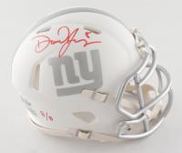 Daniel Jones Signed LE Giants White ICE Speed Mini Helmet (Beckett COA) at PristineAuction.com