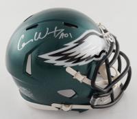 "Carson Wentz Signed Eagles Super Bowl LII Champions Logo Speed Mini Helmet Inscribed ""AO1"" (Fanatics Hologram) at PristineAuction.com"