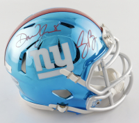 Daniel Jones & Saquon Barkley Signed Giants Chrome Speed Mini Helmet (Beckett COA & Panini COA) at PristineAuction.com