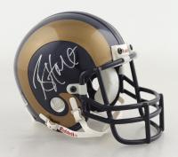 Torry Holt Signed Rams Mini Helmet (PSA COA) at PristineAuction.com