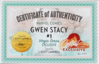 """J. Scott Campbell Signed 2020 """"Gwen Stacy"""" Issue #1 Marvel Campbell """"Virgin"""" Edition Comic Book (CGC Encapsulated - 9.8) at PristineAuction.com"""