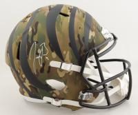 Joe Burrow Signed Bengals Full-Size Camo Alternate Speed Helmet (Fanatics Hologram) (See Description) at PristineAuction.com
