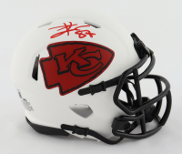 Travis Kelce Signed Chiefs Lunar Eclipse Alternate Speed Mini Helmet (Beckett Hologram) at PristineAuction.com