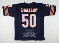 "Mike Singletary Signed Career Highlight Stat Jersey Inscribed ""HOF 98"" (JSA COA) (See Description) at PristineAuction.com"